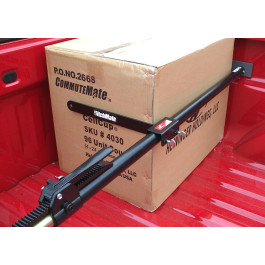 HitchMate Cargo Stabilizer Bar with Divider Bar Secured