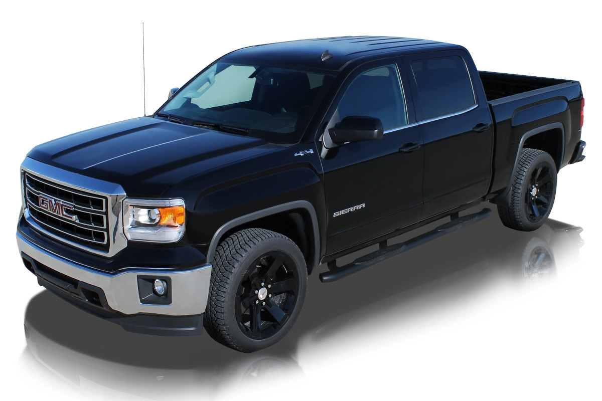 Raptor 4 Quot Oe Style Curved Oval Black Step Bars