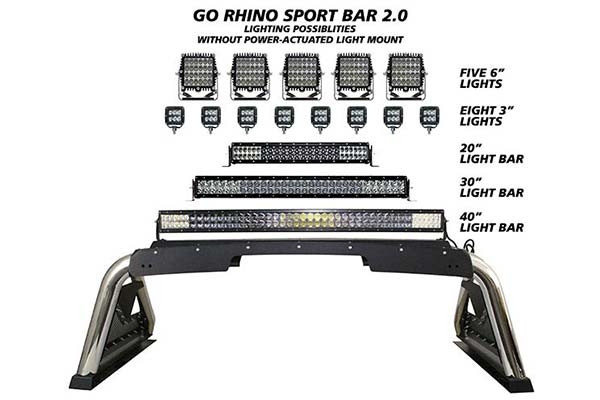Go Rhino Sport Bar 2 0 With Power Actuated Retractable
