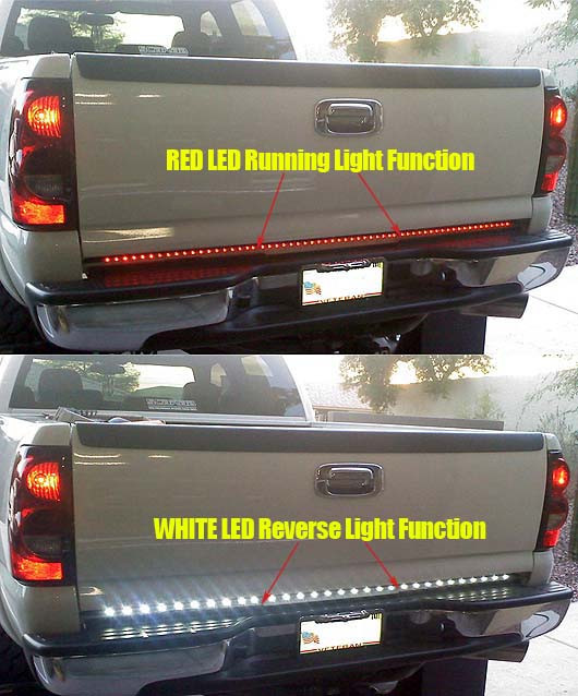 Recon white lightning led tailgate light bar aloadofball Gallery