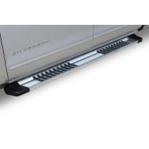 """Raptor 6"""" OEM Running Boards -  Brushed Aluminum"""